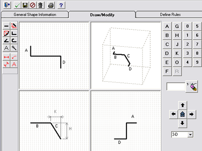 Draw and define your own custom shapes.