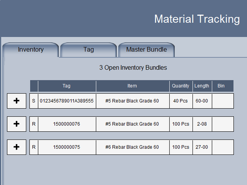 Material Tracking.